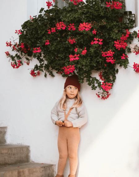 Warme Strumpfhose mit Trägern Light Brown von Silly Silas