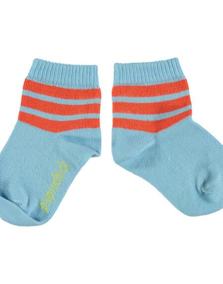 Socken Blue with Garnet Stripes von Piupiuchick