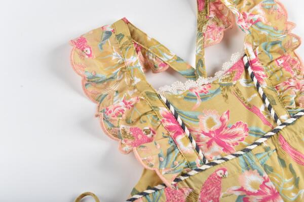 Overall Baby Soft Honey Parrots von Louise Misha