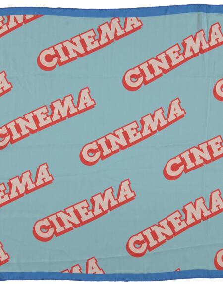 "Silky Bandana Blue With ""Cinema"" Garnet Print von PiuPiuchick"