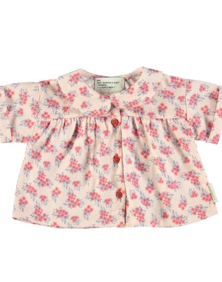 Bluse Baby Peter Pan Pale Pink With Flowers von PiuPiuchick