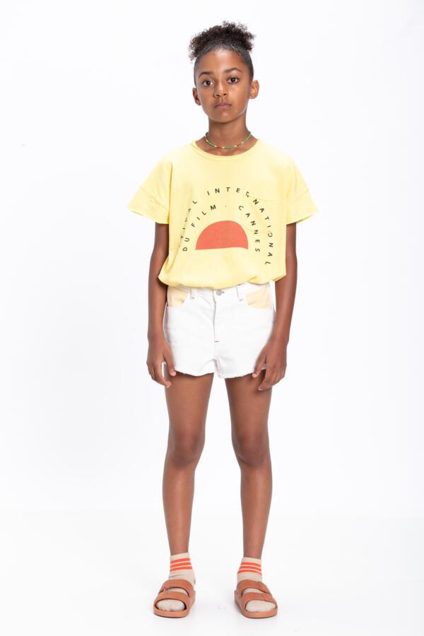 Shorts Kids Tricolor Off-white, Yellow, Pink & Green von Piupiuchick