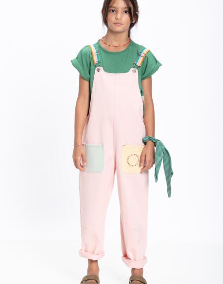 Latzhosen Kids Multicolor Pale Pink, Blue & Green von PiuPiuchick