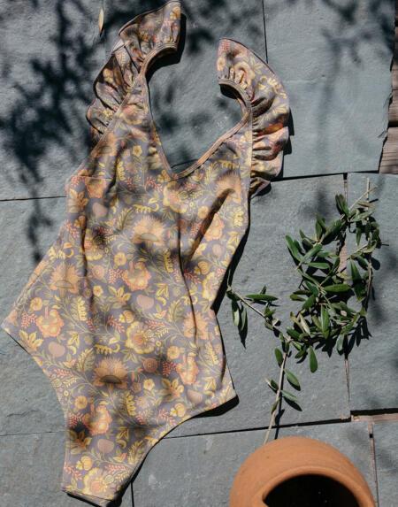 Badeanzug Reva Grey California Flowers von Louise Misha