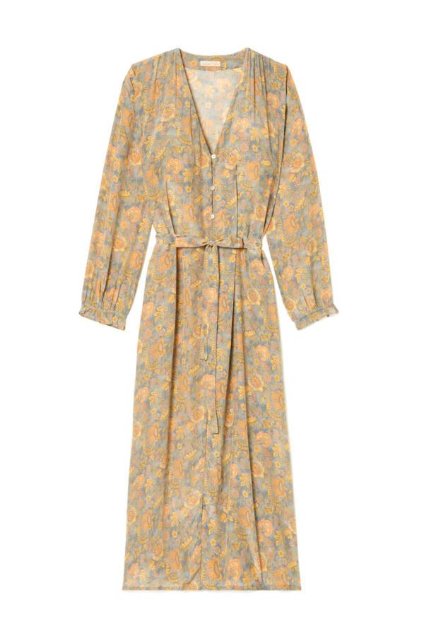Kleid Rama Grey California Flowers von Louise Misha