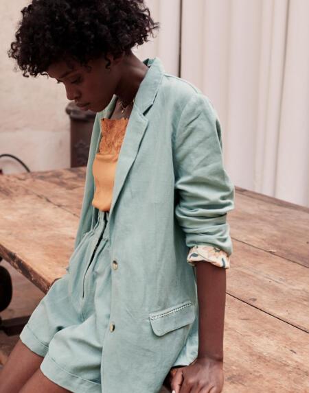 Jacket Anzou Vintage Blue von Louise Misha