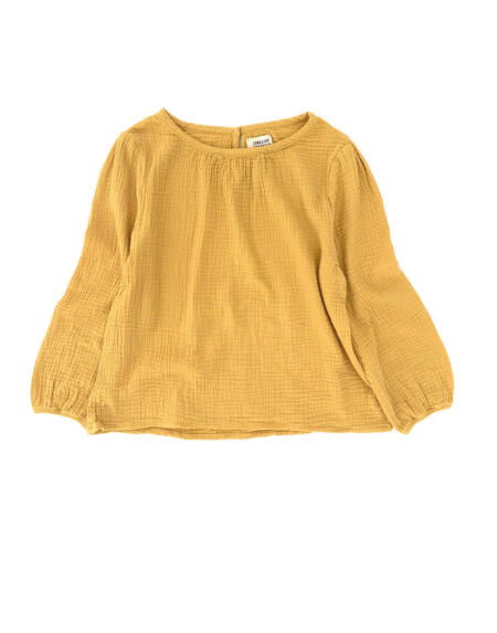 Bluse Kids Crinkle Dirty Yellow von Longlivethequeen