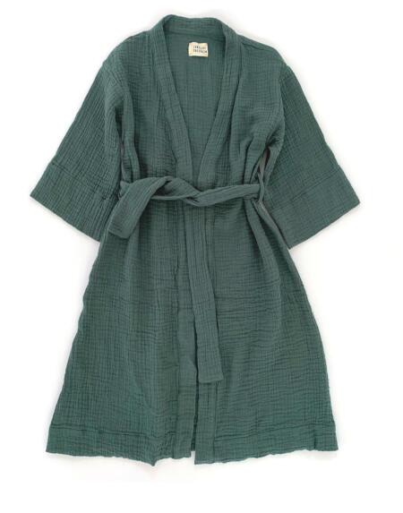 Kimono-Kleid  Dark Green von Longlivethequeen