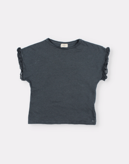 Shirt Kids Ruffle Blue Night von Buho