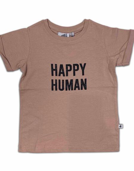 T-Shirt Kids Happy Human Sepia Rose von Cos I said so