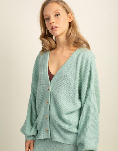 Cardigan Smiley Sabine Off White von LN Knits