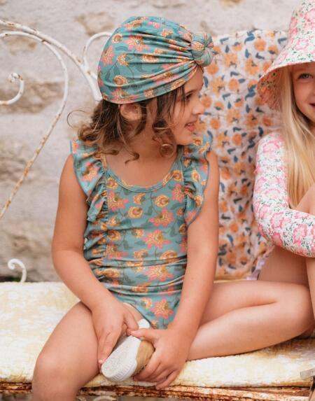 Badekleid Mosillos Turquoise Flowers von Louise Misha