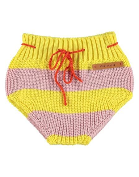 Bloomer Baby Strick Pink & Yellow Stripes von Piupiuchick