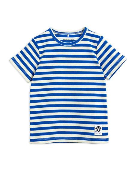 T-Shirt Kids Stripe Blue/White von Mini Rodini
