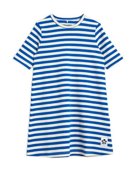 Kleid Kids Stripe Blue/White von Mini Rodini