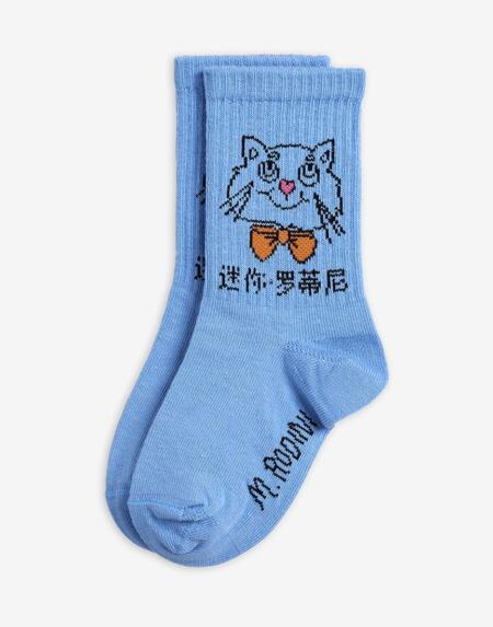 Socken Kids Cat Blue von Mini Rodini