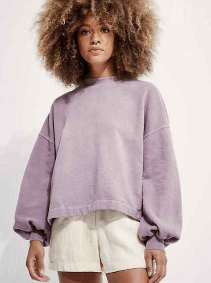 Puff Sleeve Sweatshirt Mushroom von Backbeat