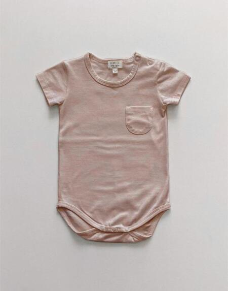 Body Baby Kurzarm Antique Rose von The Simple Folk