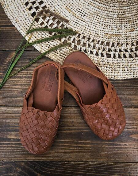 The Woven Sandal Tan