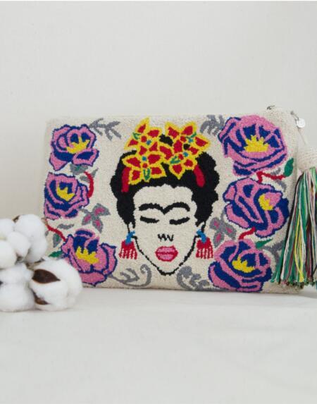 Frida Clutch Pink von Mama Tierra