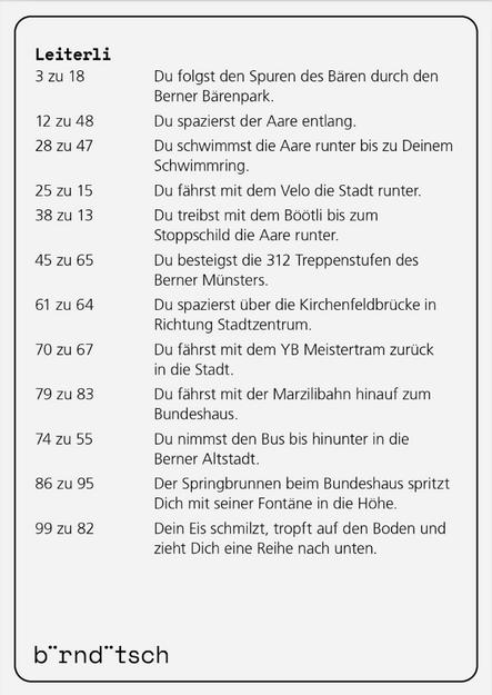 Leiterlispiel Bärndütsch von b¨rnd¨tsch