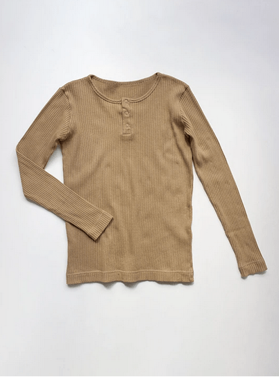 The Ribbed Top Woman Camel von The Simple Folk