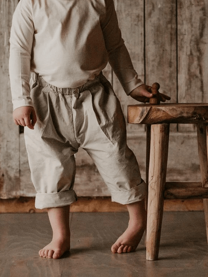 The Summer Trouser Ecru von The Simple Folk