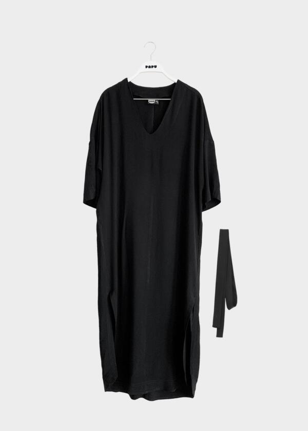 Caftan Dress Woman Black von Papu
