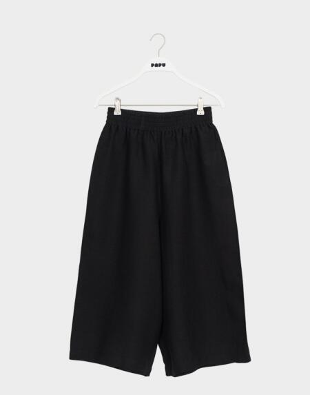 Linen Culottes Adultes Black von Papu