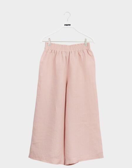 Linen Culottes Adultes Muted Red von Papu