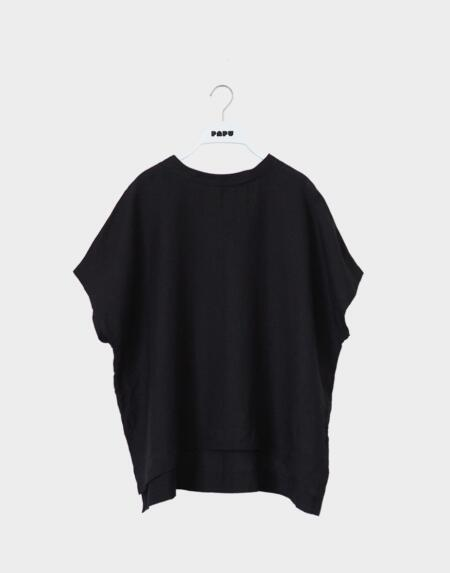 Linen Shirt Adultes Black von Papu