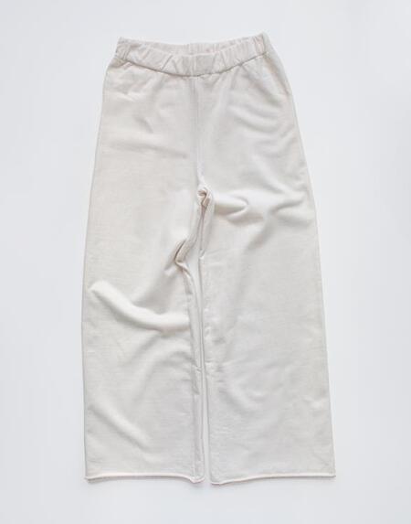 The Wide Leg Fleece Trouser Woman Undyed von The Simple Folk
