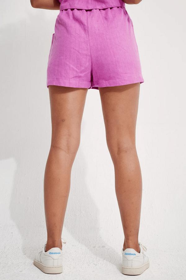 Linen Boxer Shorts Cyber von Backbeat