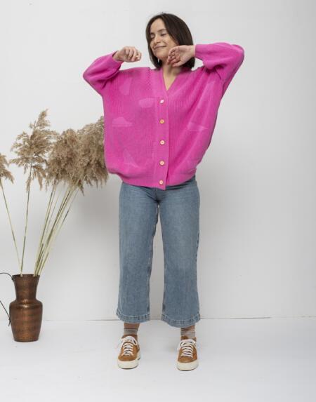 Cardigan Oam Pink von Oat Ava