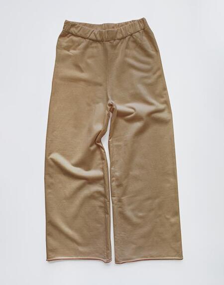 The Wide Leg Fleece Trouser Woman Camel von The Simple Folk