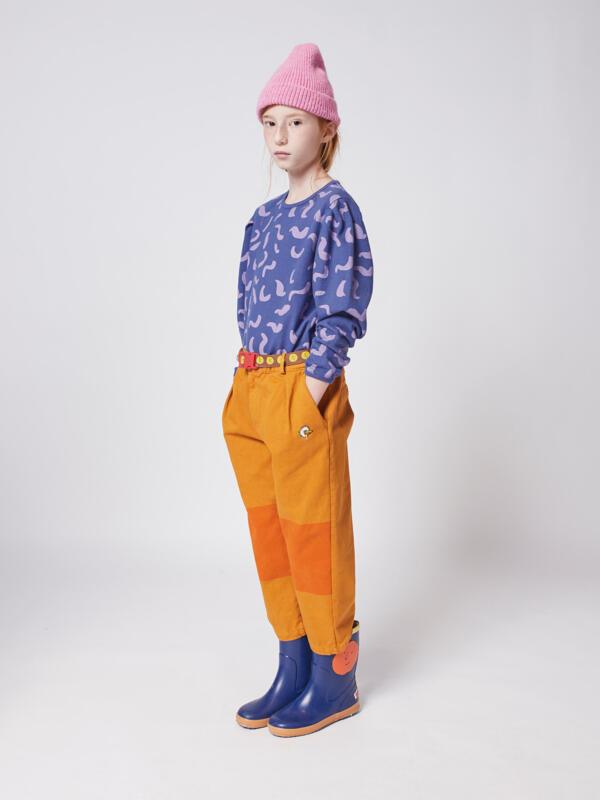 Shirt Kids Shapes All Over Royal Blue von Bobo Choses