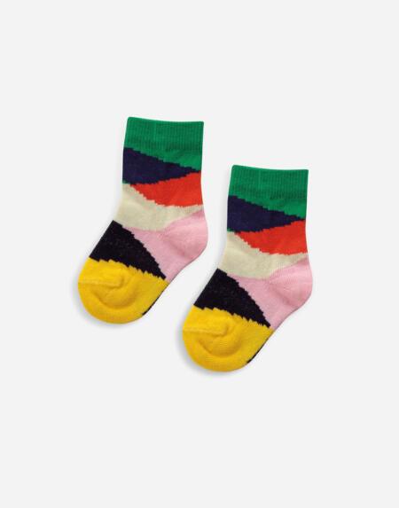 Socken Baby Multi Color Block von Bobo Choses