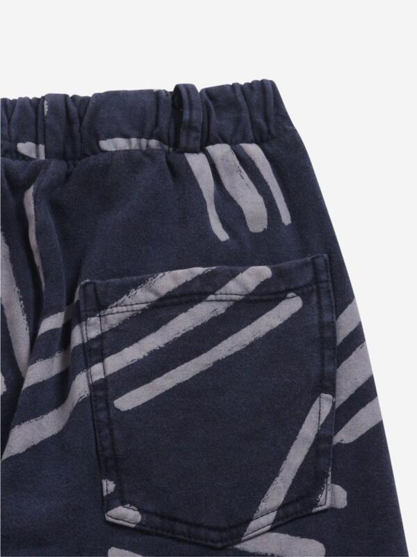 Hose Kids Fleece Scratch All Over Twilight Blue von Bobo Choses