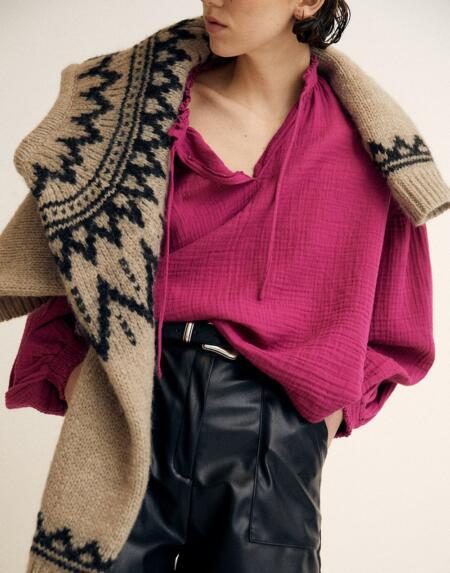 Bluse Woman Olivia Bourgainvillea von The New Society