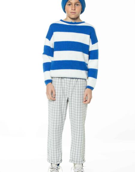 Strickpulli Kids Stripes Ecru&Indigo Blue von Piupiuchick
