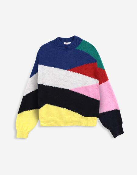 Strickpulli Adults Multicolor Intarsia von Bobo Choses
