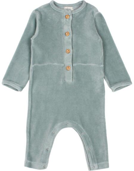 Jumpsuit Baby Velvet Storm Grey von Buho