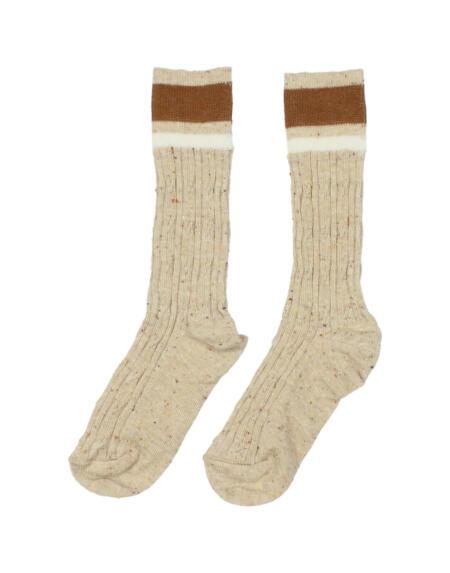Socken Rib Natural von Buho