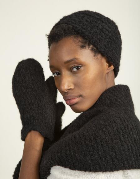 Stirnband 20's Style Black von LN Knits