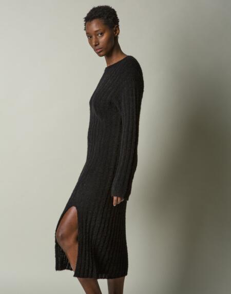 Kleid Camellia Black von LN Knits