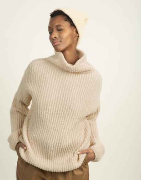 Pullover Sassy Stevie Oatmeal von LN Knits