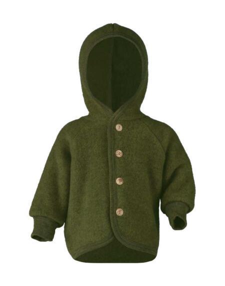 Wollfleece Jacke Baby Schilf Melange von Engel Natur