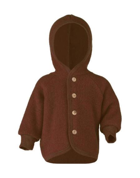 Wollfleece Jacke Baby Zimt Melange von Engel Natur