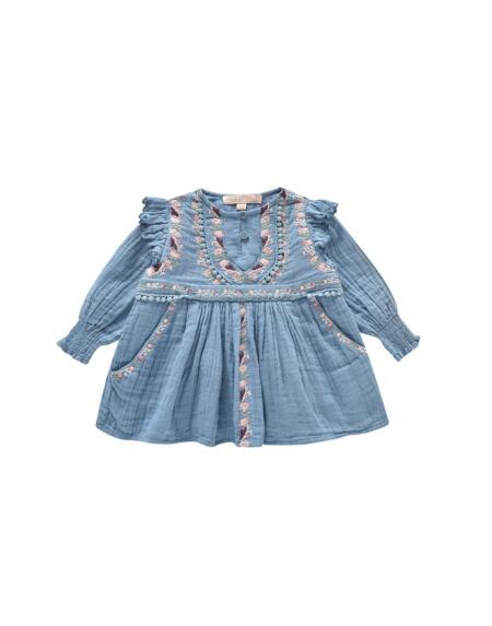 Kleid Bianca Baby & Kids Blue von Louise Misha