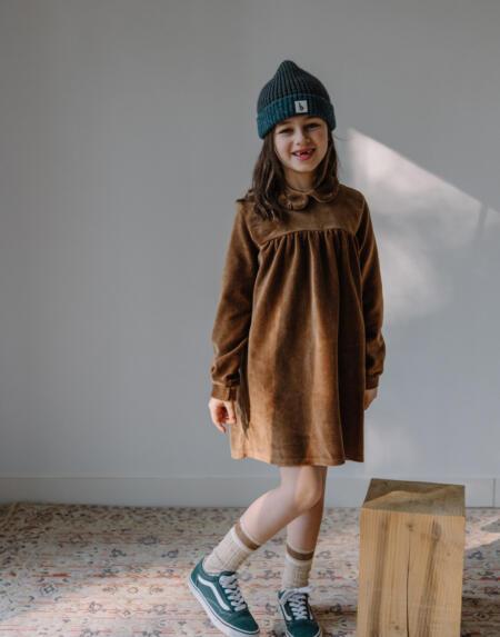 Kleid Kids Velvet Muscade von Buho